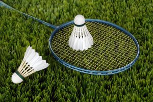 Badmintonschläger und Ball