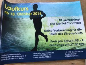 Werbeplakat für den Laufkurs